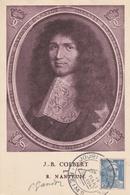 Reims Journée Du Timbre 1947 - Sur Gandon Avec Autographe Du Graveur - Postmark Collection (Covers)