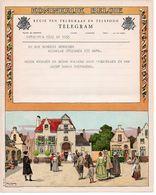 Telegram Telegramme Message Telegramm Gelukwensen Huwelijk Mariage Marriage  Heirate Antwerpen 1957 - Boda