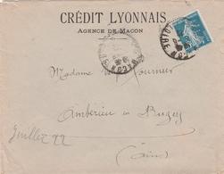 Macon Crédit Lyonnais 1922 - Semeuse Perforée CL - Perforés
