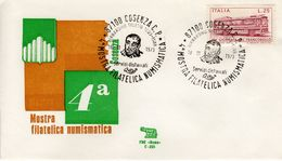 ITALY - 1973 STAMP AND NUMISMATICS SHOW   FDC4214 - 6. 1946-.. República