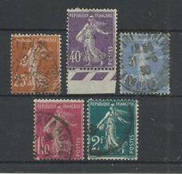 FRANCE - N°YT 235/39 OBLITERES - COTE YT : 5.85€ - 1927/31 - 1906-38 Sower - Cameo