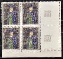 FRANCE 1964 - BLOC DE 4 TP Y.T. N° 1424 COIN DE FEUILLE  - NEUFS** - Nuovi