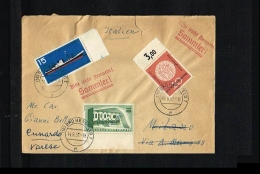 1957 - Germany Cover With Mi. 241+255+257 - Misc.Topics - Ship - Europe -Aschaffenburg [JP012] - [7] West-Duitsland
