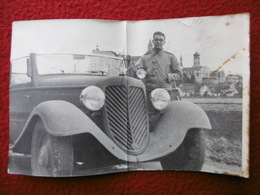 AUTOMOBILE ALLEMANDE CABRIOLET ?  PHOTO  16.5 X 11 état - Automobiles