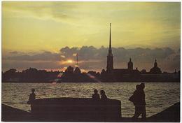 Leningrad: Forteresse Pierre-et-Paul - Palais - Palace - Peter And Paul Fortress  (Jumbo Sized Postcard; 25 Cm X 17 Cm) - Rusland