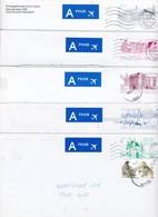Briefomslagen ( 5 ) :Nr 25 A B C D E   Diverse Zichten : Kust - Ninove - Brussel Enz - Entiers Postaux