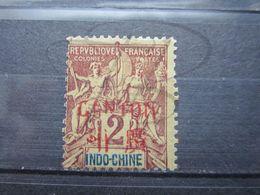VEND BEAU TIMBRE DE CANTON N° 2 , SURCHARGE BASSE , (X) !!! - Unused Stamps