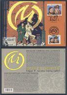 2004 Joint Issue Sheet  Belgie Belgique Belgium Mi 3332 + M3814 (Fr) : Blake And Mortimer, Comic Strip By E.P. Jacobs - Gezamelijke Uitgaven