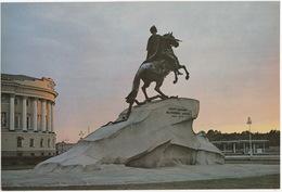 Leningrad: Cavalier D'airin - Bronze Horseman  (Jumbo Sized Postcard; 25 Cm X 17 Cm) - Rusland