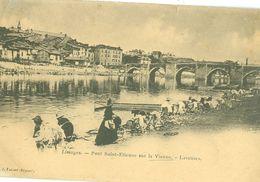 (87) LIMOGES : Pont Saint-Etienne Sur La Vienne - Laveuses (animée) (dos Non Divisé) - Limoges