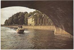 Leningrad: La Fontanka , Jardin D'Eté - SPEEDY BOAT - Summer Gardens, Fontanka  (Jumbo Sized Postcard; 25 Cm X 17 Cm) - Rusland