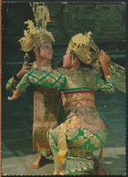 °°° 10869 - INDONESIA - A YOUNG PAIR OF BALINESE DANCERS - 1976 With Stamps °°° - Indonesia