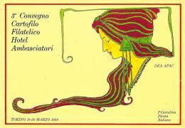 [MD1201] CPM - TORINO - APAC - 1° CARTOLINA PIRATA ITALIANA - 3° CONVEGNO CARTOFILO FILATELICO - DEA APAC- Non Viaggiata - Borse E Saloni Del Collezionismo