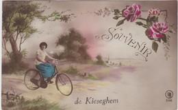 MEENSEL-KIESEGHEM-SOUVENIR-FIETS-VERSTUURDE EN AFGESTEMPELDE KAART-1922-ZIE DE 2 SCANS-RARE ! ! ! - Tielt-Winge