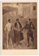 """RARA :Michele Agnoletto:Atadàs- Serie """"artisti Italiani In Armi """"- Edizione Ungherese- PM 89 Budapest->Venezia V. 8/1943 - War 1939-45"""