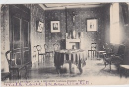 HEUSDEN-PENSIONNAT DES URSULINES-PARLOIR-VERSTUURD NAAR ENGELAND-1906-MOOI-ZIE DE 2 SCANS ! ! ! - Heusden-Zolder