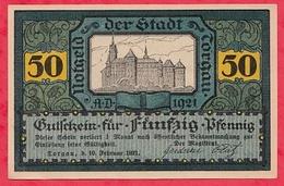 Allemagne 1 Notgeld 50 Pfenning  Torgen UNC  Lot N °214 - [ 3] 1918-1933 : Weimar Republic