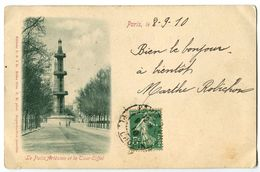 CPA 75 Paris Le Puits Artésien Et La Tour Eiffel - France