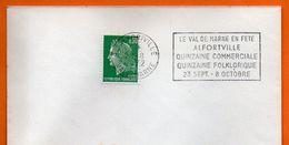 94 ALFORTVILLE   QUINZAINE FOLKLORIQUE 1972 Lettre Entière N° JJ 893 - Annullamenti Meccanici (pubblicitari)