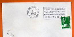 94 VINCENNES    3° AGE   1976 Lettre Entière N° JJ 902 - Annullamenti Meccanici (pubblicitari)