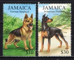 JAMAICA - 1999 - Dogs:  German Shepherd And  Oberman Pinscher - USATI - Jamaica (1962-...)