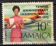JAMAICA - 1972 - DECENNALE DELL'INDIPENDENZA - USATO - Jamaique (1962-...)