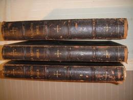 La Sainte Bible  Traduction De M De Genoude 3 Volumes Bon état 1834 - Bücher, Zeitschriften, Comics