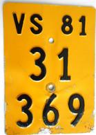 Velonummer Mofanummer Wallis Valais VS 81 - Number Plates