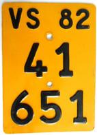 Velonummer Mofanummer Wallis Valais VS 82 - Number Plates