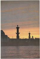 Leningrad: Pointe De L'ile Vassilievski - Split Of Vasilyevsky Island - (Jumbo Sized Postcard; 25 Cm X 17 Cm) - Rusland