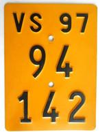 Velonummer Mofanummer Wallis Valais VS 97 - Number Plates