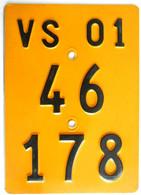 Velonummer Mofanummer Wallis Valais VS 2001 - Number Plates