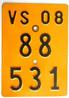 Velonummer Mofanummer Wallis Valais VS 2008 - Number Plates