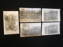 Lot De 5 CPA Du 277°RI, Régiment De Réserve Du 77°RI De Cholet, Musique, Infirmier, Lorraine 1915 - War 1914-18