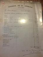 AVILES 1882 Facture à Voir - Espagne