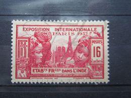 VEND BEAU TIMBRE DES ETABLISSEMENTS FRANCAIS DANS L'INDE N° 111 , XX !!! - India (1892-1954)