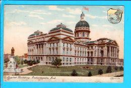 Cpa  Cartes Postales Ancienne  - Indianapolis Capitol - Indianapolis