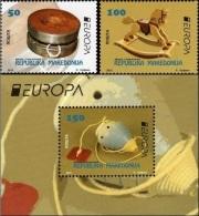 MK 2015-729-31 EUROPA CEPT, MACEDONIA, 1 X 2v + S/S, MNH - Macédoine