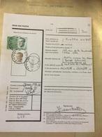 Régie Des Postes Réexpédition Provisoire SPY A VOIR - Documents Of Postal Services