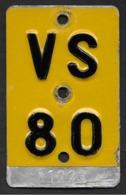 Velonummer Mofanummer Wallis Valais VS 1980 - Number Plates