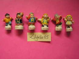PRE Serie Complète De 6 Fèves PERSO En Porcelaine Lettres Jaunes - LA RONDE EUROPEENE III 2002 - ( Feve Miniature ) - Countries