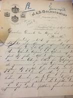 FRANKFURT 1895 Facture - J.S Goldschmidt Antiquitaten Juuwelen 2 Pages - Deutschland