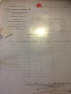 CHARLEVILLE 1893 Facture Comptoir Des Ardennes à Voir - France