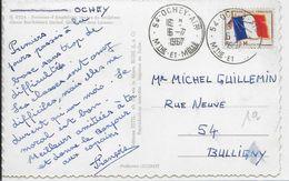 """1967 - CARTE De La BASE AERIENNE De OCHEY Avec OBLITERATION """"OCHEY AIR"""" - MEURTHE ET MOSELLE - Marcophilie (Lettres)"""