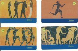 4 Télécartes Brésil Culture Histoire Des Olympiades (D 316) - Culture