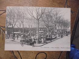Amiens Place Dewailly Marché à Réderies  Attelage Ane - Amiens