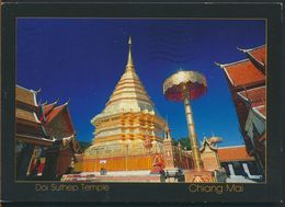 °°° 10872 - THAILAND - CHIANG MAI - DOI SUTHEP TEMPLE - With Stamps °°° - Tailandia