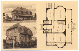 OVERIJSE Villa LA BRISE Jaren 30 Zicht & Architectuurplan Vue & Plan D'architecte - Overijse
