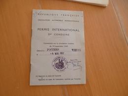 Permis International De Conduire 1962 - Voitures