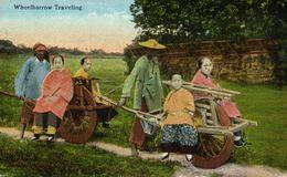 China, Native Chinese Wheelbarrow Traveling (1910s) Postcard - China